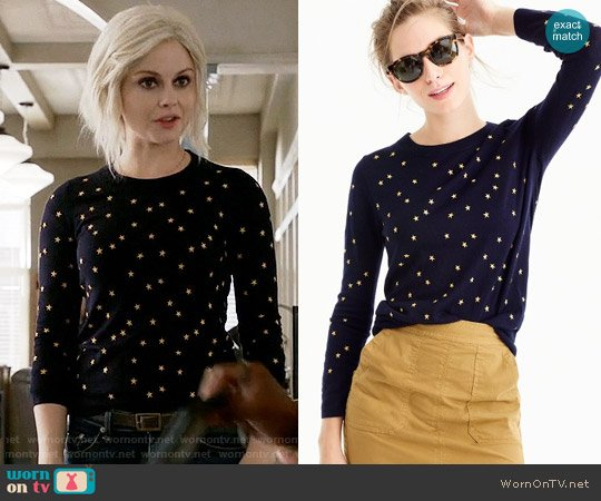J. Crew Tippi Sweater in Embroidered Stars worn by Liv Moore (Rose McIver) on iZombie