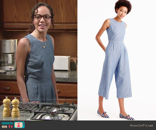 J. Crew Chambray Jumpsuit worn by Mattie Ashby (Lexie Stevenson) on The Young & the Restless