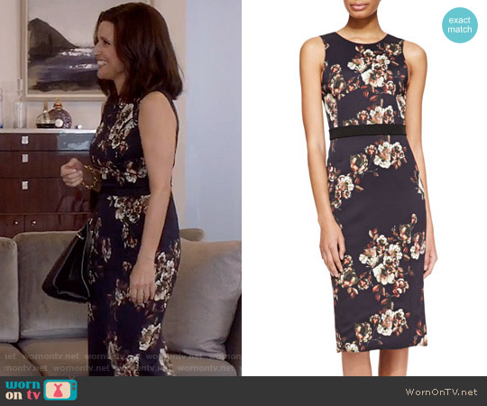 Jason Wu Floral Dress worn by Selina Meyer (Julia Louis-Dreyfus) on Veep