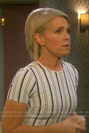 Jennifer's white striped dress on Days of our Lives