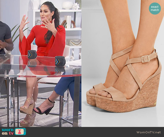 Jimmy Choo Portia Sandals worn by Nikki Bella on Daily Pop