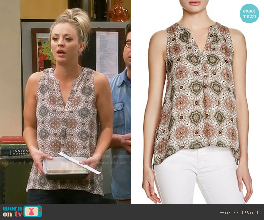 Joie Aruna Top in Medallion Print worn by Kaley Cuoco on The Big Bang Theory