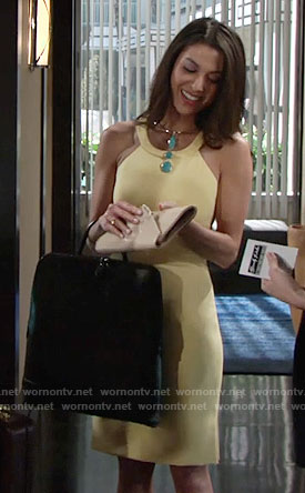 Juliet's yellow dress on The Young and the Restless