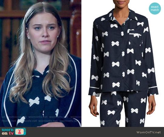 Kate Spade Bow Tie-print Pajama Set worn by Polly Cooper (Tiera Skovbye) on Riverdale