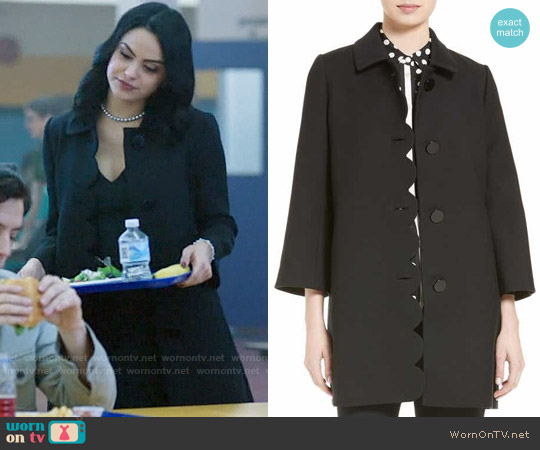 Kate Spade Scallop Twill Coat worn by Camila Mendes on Riverdale