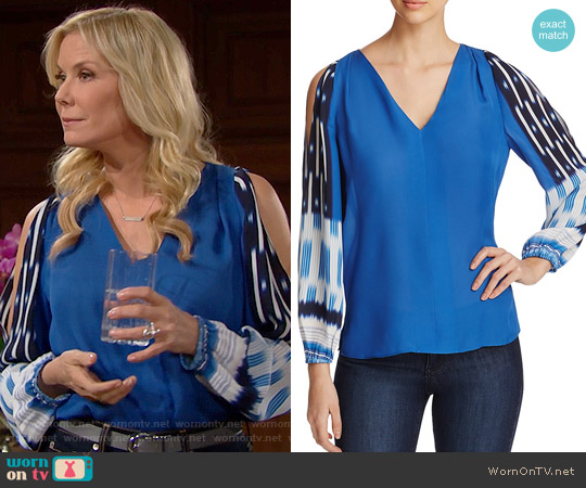 Kobi Halperin Sahara Blouse worn by Brooke Logan (Katherine Kelly Lang) on The Bold & the Beautiful