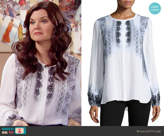 Kobi Halperin Sheri Blouse worn by Heather Tom on The Bold & the Beautiful