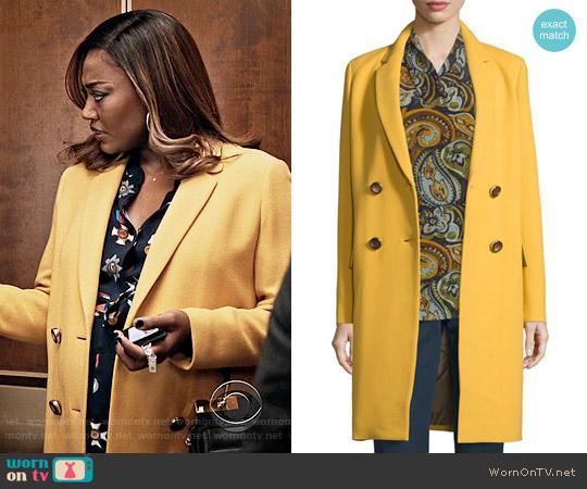 Lafayette 148 NY Gianna Coat worn by Daisy Grant on Madam Secretary