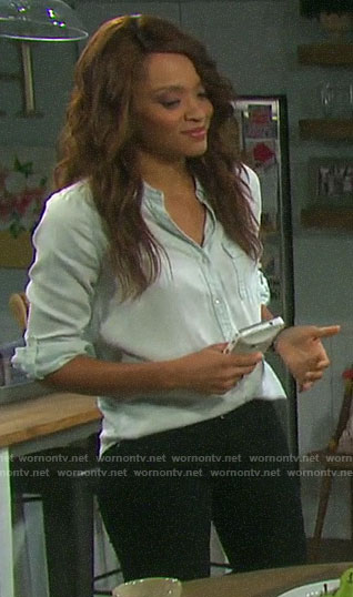 Lani's chambray shirt on Days of our Lives