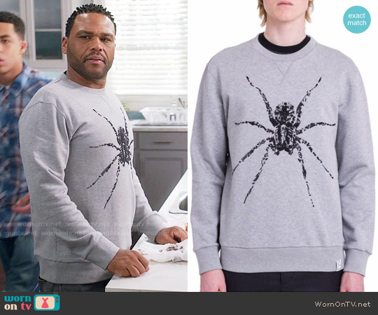 Lanvin Spider Sweatshirt worn by Anthony Anderson on Blackish