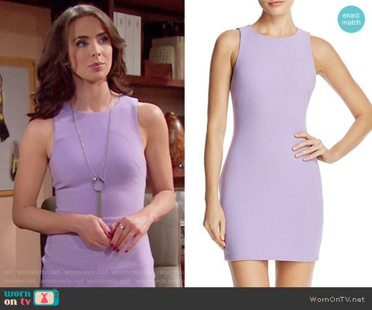 Likely Manhattan Dress in Wisteria worn by Ivy Forrester (Ashleigh Brewer) on The Bold & the Beautiful