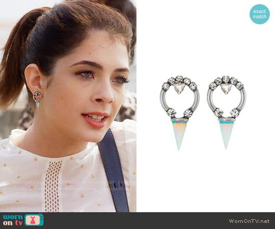 Lionette NY Alma Earrings worn by Alexis Gleen on Famous in Love