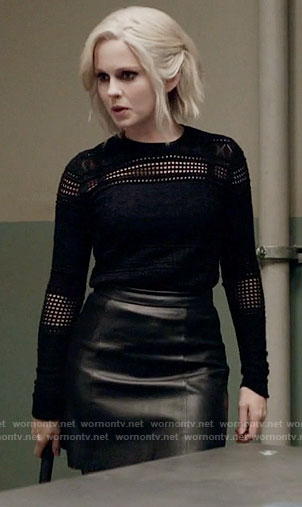 Liv's black eyelet sweater on iZombie