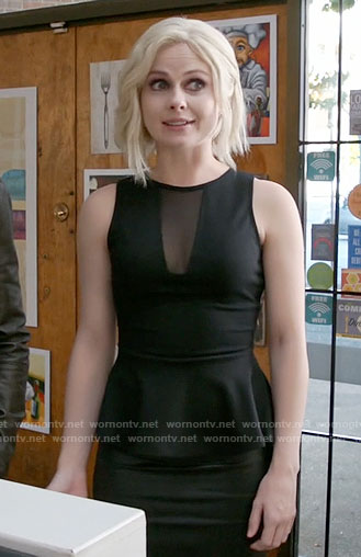 Liv's black mesh panel peplum top on iZombie