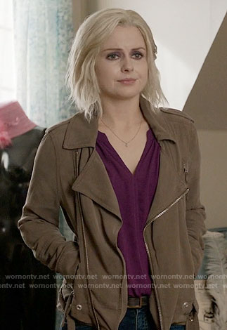 Liv's purple top and brown jacket on iZombie