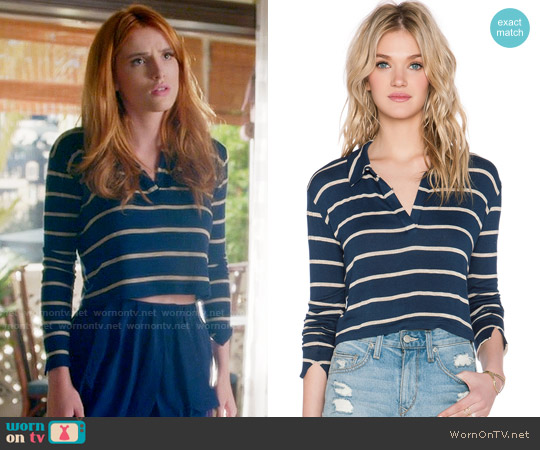 LNA Collar Crop Sweater worn by Bella Thorne on Famous in Love