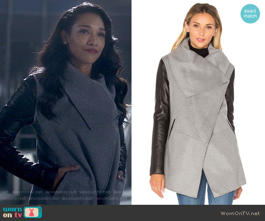 Mackage Vane Coat worn by Iris West (Candice Patton) on The Flash