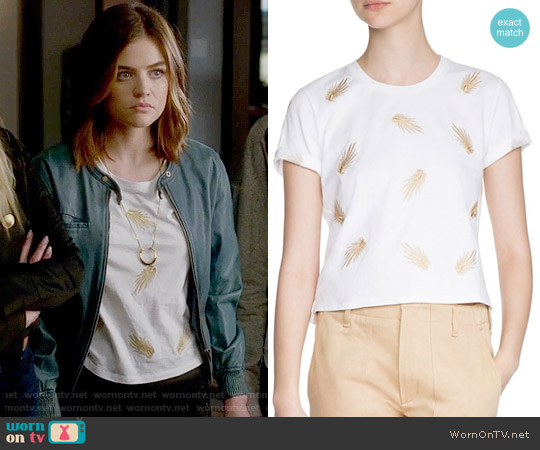 Maje Tampa Tee worn by Aria Montgomery (Lucy Hale) on PLL