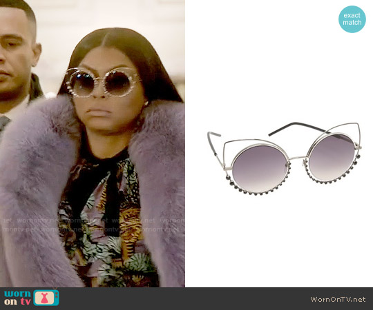 Marc Jacobs Double Trouble Crystal Wire Sunglasses worn by Cookie Lyon on Empire