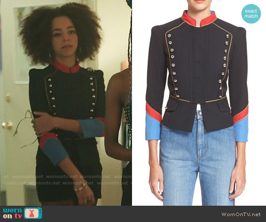 Marc by Marc Jacobs Gabardine Military Jacket worn by Hayley Law on Riverdale