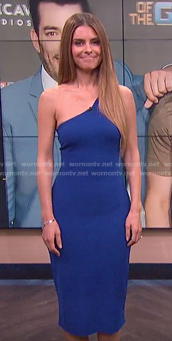 Maria's blue one-shoulder dress on E! News