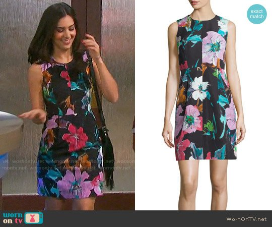 Milly Coco Paper Floral Dress worn by Camila Banus on Days of our Lives