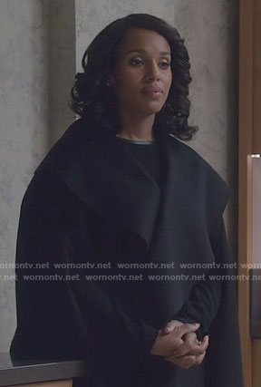 Olivia's black cape on Scandal