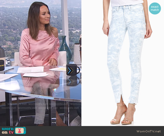 Rosie HW x PAIGE Collection Madeline - Skylar Raw Hem worn by Catt Sadler on E! News