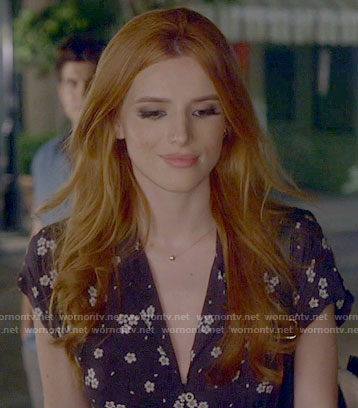 Paige's black floral shirtdress on Famous in Love