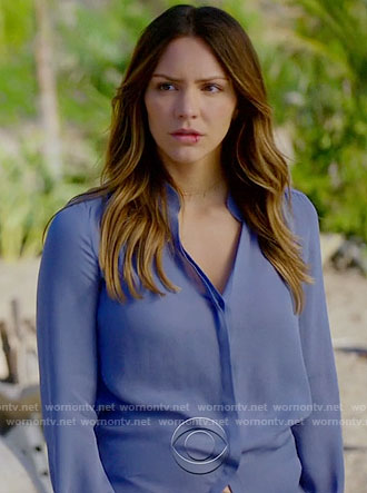 Paige's blue blouse on Scorpion