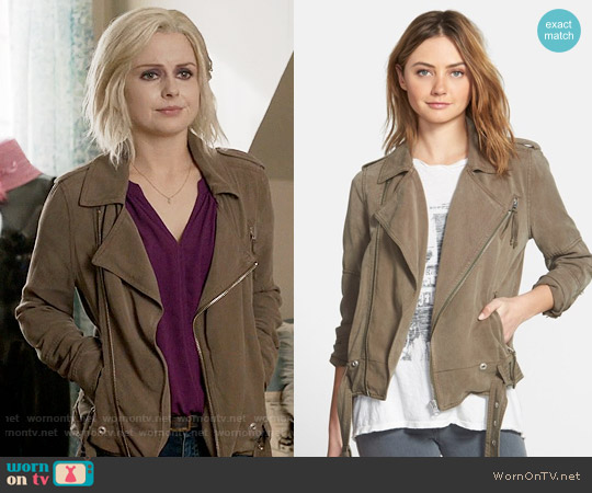 Pam & Gela Moto Military Jacket worn by Rose McIver on iZombie