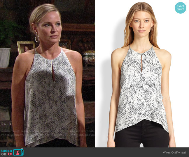 Parka Sheila Silk Tank worn by Sharon Collins (Sharon Case) on The Young & the Restless