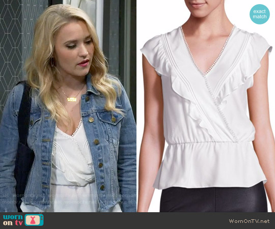 Parker Taylan Top worn by Emily Osment on Young & Hungry