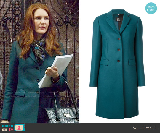 Paul Smith Single Breasted Coat worn by Darby Stanchfield on Scandal