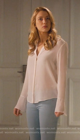 Petra's white blouse on Jane the Virgin