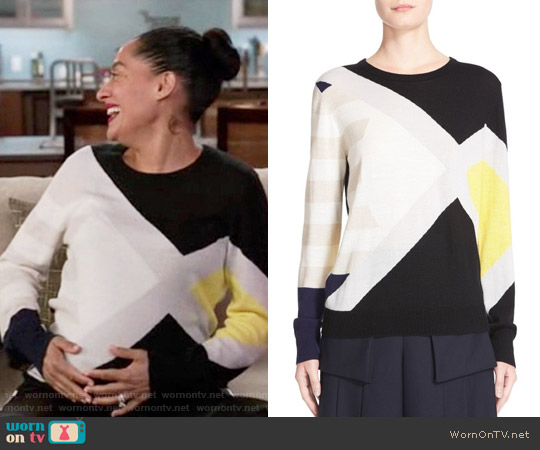 Public School Multicolor Sweater worn by Rainbow Johnson (Tracee Ellis Ross) on Blackish