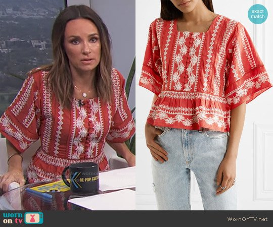 Rachel Zoe Heidi Top worn by Catt Sadler  on E! News