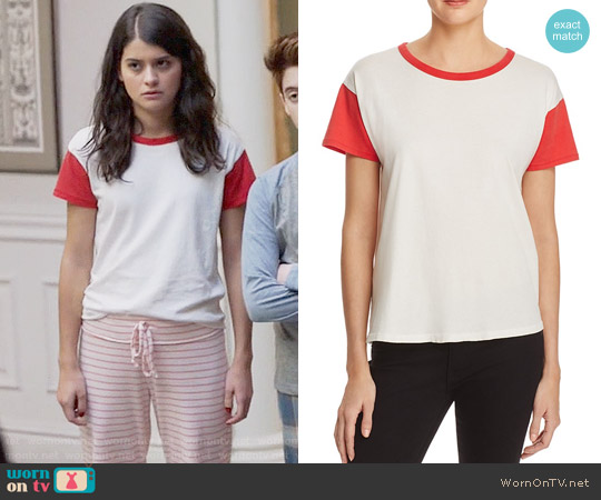 Rag & Bone Cotton Ringer Tee worn by Sabrina Pemberton (Sofia Black D'Elia) on The Mick