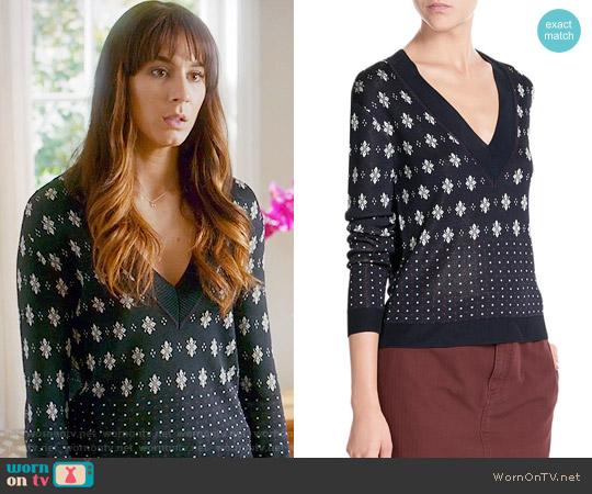 Rag & Bone Isabella Sweater worn by Spencer Hastings (Troian Bellisario) on PLL