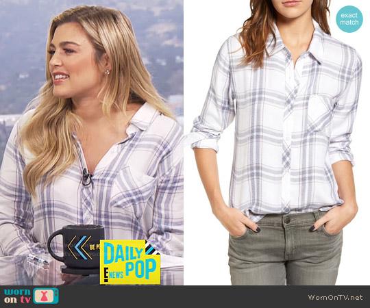 Rails Hunter Shirt in White Blush Patriot worn by Carissa Loethen Culiner  on E! News