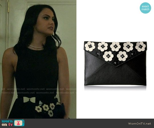 Rebecca Minkoff Leo Floral Applique Clutch worn by Veronica Lodge on Riverdale