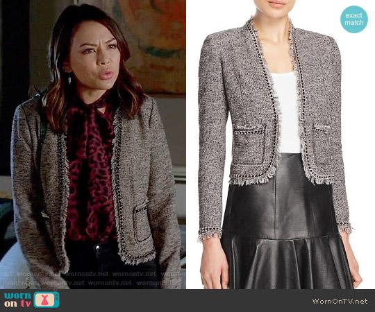 Rebecca Taylor Fringe Tweed Jacket worn by Mona Vanderwaal on PLL