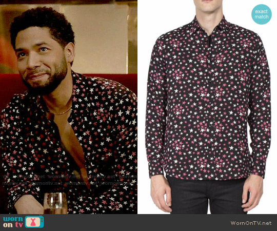 Saint Laurent Star Print Shirt worn by Jamal Lyon (Jussie Smollett) on Empire