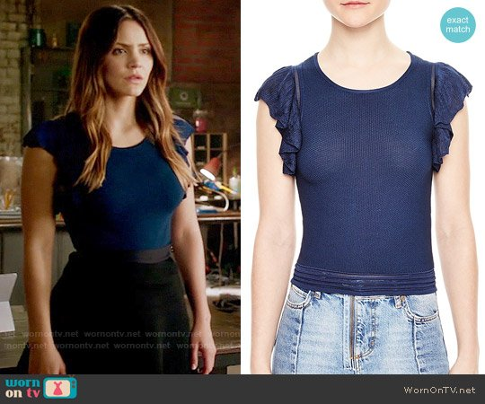 Sandro Kaili Top worn by Katharine McPhee on Scorpion