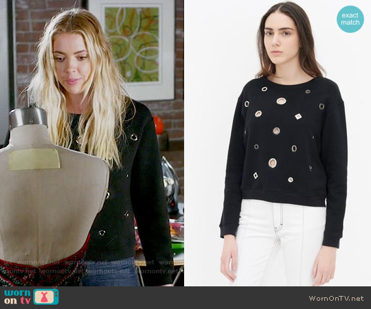 Sandro Tinka Sweatshirt worn by Hanna Marin (Ashley Benson) on PLL