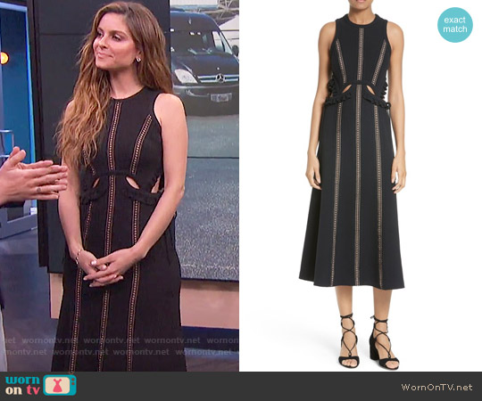 Self Portrait Cutout Midi Dress worn by Maria Menounos on E! News