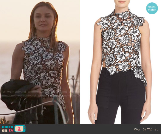Self Portrait Lily Top worn by Christine Evangelista on The Arrangement