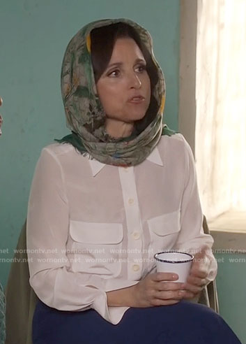 Selina's Gucci headscarf on Veep