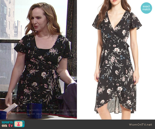 Socialite Floral Print Wrap Dress worn by Mariah Copeland (Camryn Grimes) on The Young & the Restless