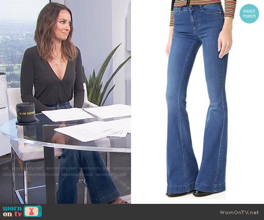Stella McCartney Flare Jeans worn by Catt Sadler on E! News